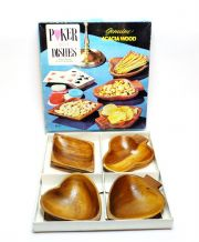 Boxed Vintage Poker Dishes